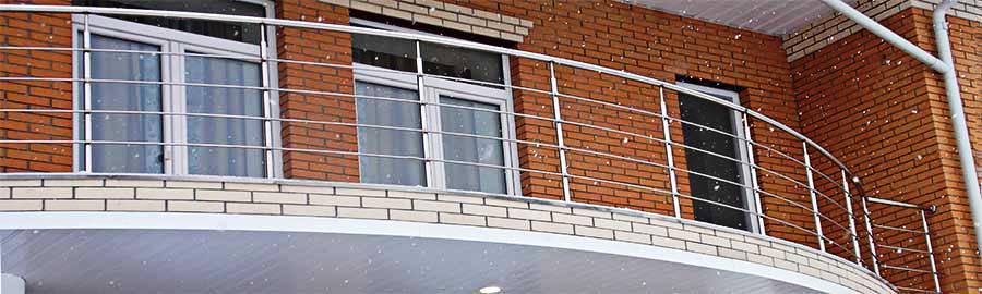 перила ціна Полтава, перила купити, перила на балкон, огородження з нержавійки ціна