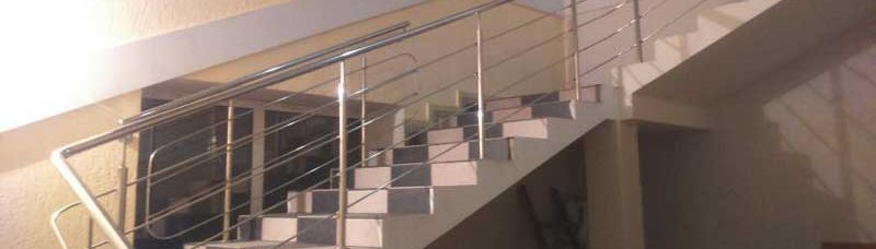 перила ціна Львів, ціни на перила на сходи, огорожа на сходи, огорожа для сходів з нержавійки