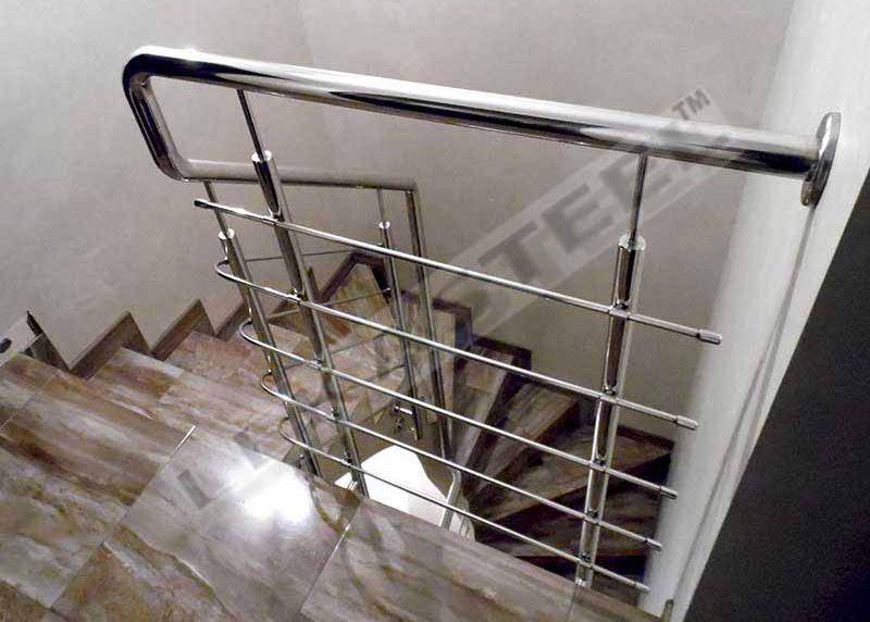 перила ціна Київ, перила купити, огорожа на сходи, огородження з нержавійки