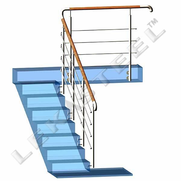 перила из нержавейки, ограждение на лестницу цена