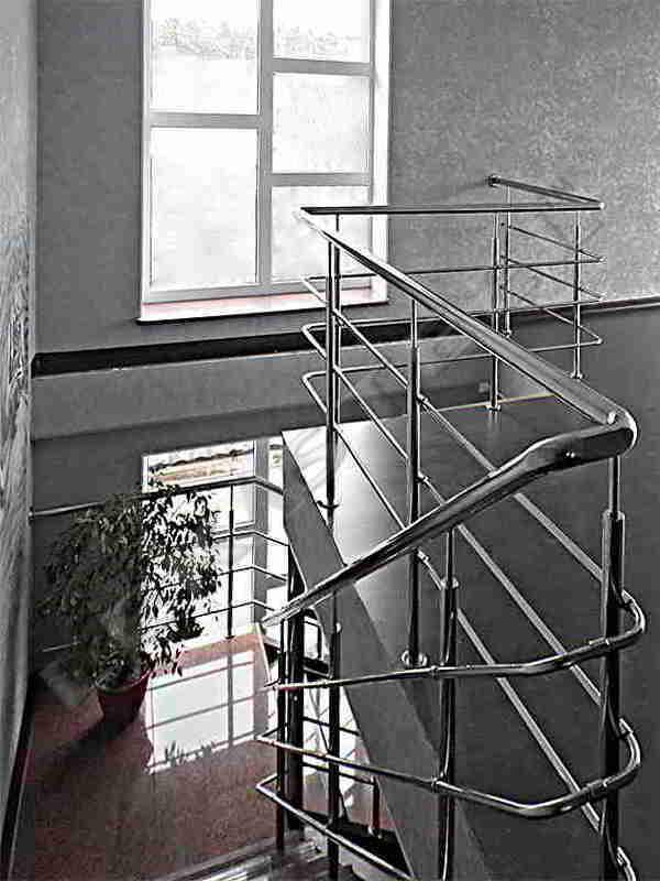 огородження на сходи, перила из нержавейки, перила з нержавійки