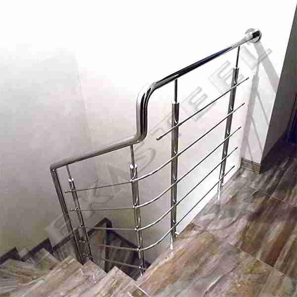 Перила на сходи з нержавійки, Перила из нержавейки Киев