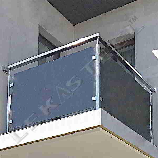 Перила з нержавійки Рівне, Перила на балкон Рівне, Огорожа балкон нержавійка