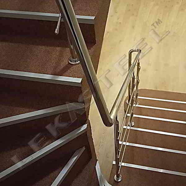 Перила на сходи. Перила з нержавійки. ціни на перила