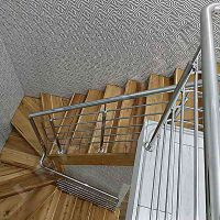 Перила на сходи на другий поверх, Перила з нержавійки, Ціни на перила