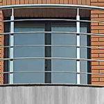 Балкон з нержавійки, перила на балкон, перила з нержавійки