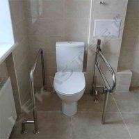 поручні для туалета, поручні для інваліда в туалет, поручні в санвузол