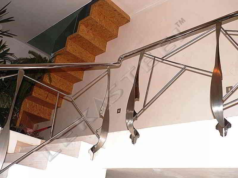 перила, перила из нержавейки, перила на лестницу