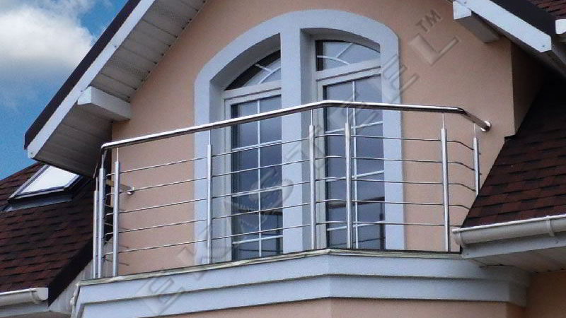 балкон, перила, нержавейка, балкон из нержавейки