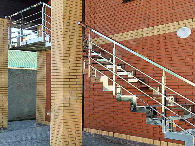 нержавейка, лестница, сходи нержавыйка, перила сходи