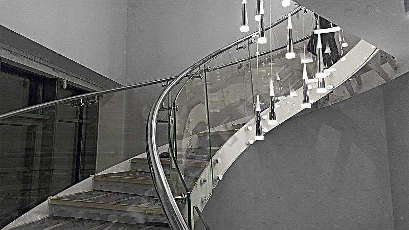 перило, цена, лестница, нержавейка стекло