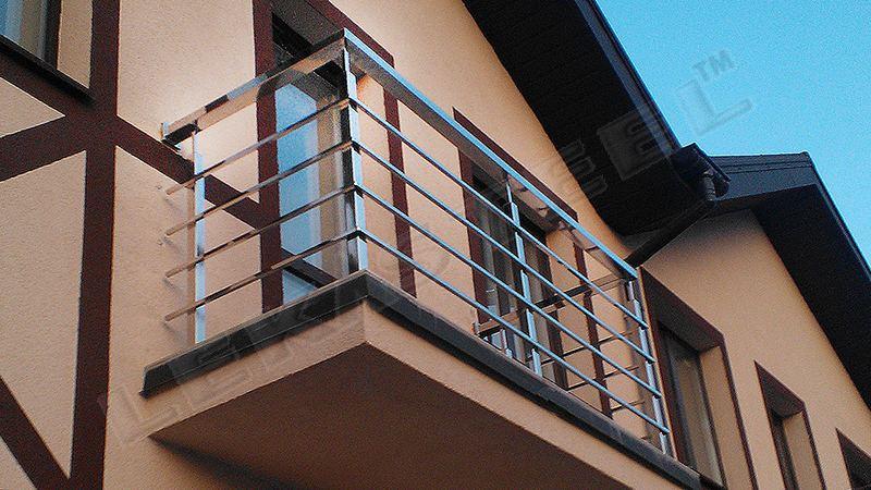 изготовление перил, перила, балкон, нержавеющие перила