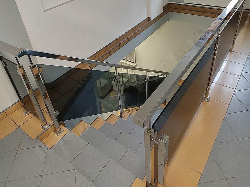 перила на сходи, перила нержавійка скло, перила из стекла
