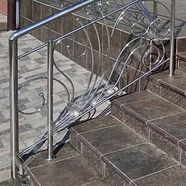 Перила на вхідні сходи, перила з нержавійки