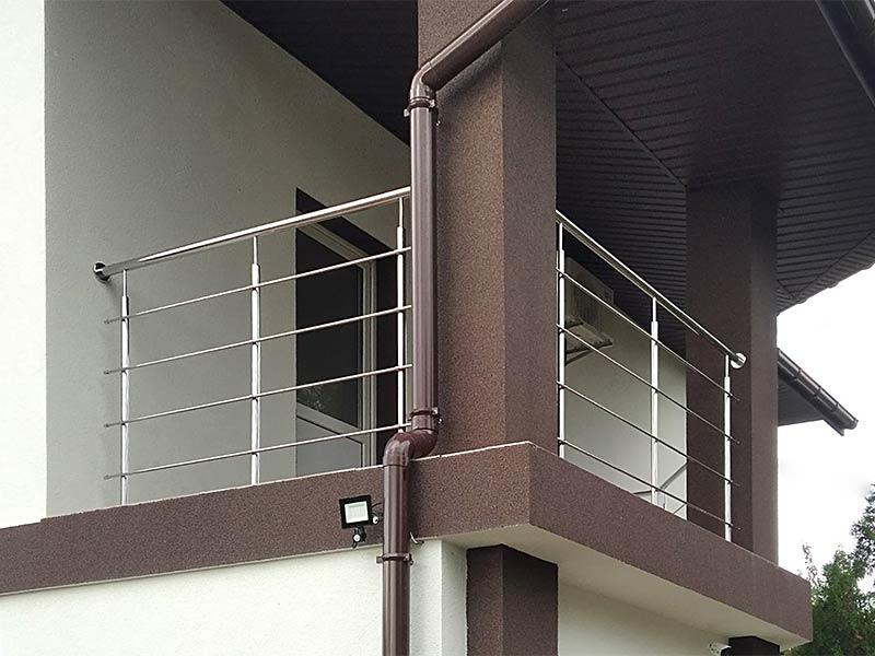Балкон з нержавійки, Балкон из нержавейки